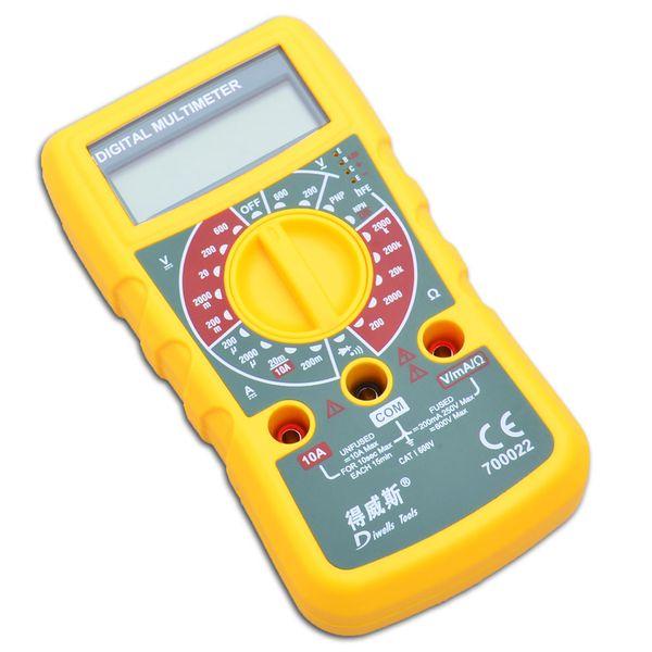 Livraison gratuite entretien électrique affichage numérique multimètre multi-usages courant résistance à la tension test capacitif instrument instrument