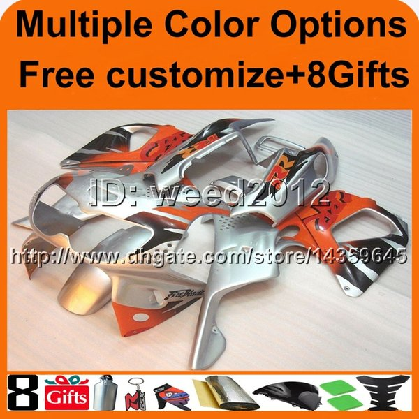 23colors+8Gifts silver motorcycle cowl for HONDA CBR 900 RR 1994-1997 CBR900RR 94 95 96 97 motor cover ABS Plastic Fairing