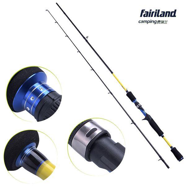 8Pcs/Lot 1.83m 1.98m 2.1m Casting Fishing Rod High Carbon M ML Power Casting Spinning Fishing Pole Lure Fishing Tackle