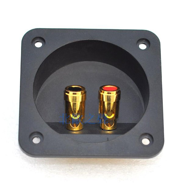 Speaker push terminal,terminal connector,Round 68mm 204a speaker wiring box speaker box terminal block copper column/Free Shipping