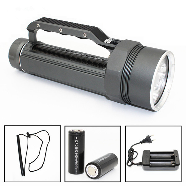 KC Fire High Quality Diving LED Flashlight 4 Lights Portable Magneto LED Lamp for Cave Hunting Daily Carrying on Foot Camping LED Lamp