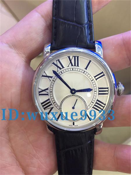 Ganador de la moda Banda de cuero negro Reloj mecánico esqueleto de acero inoxidable para hombre Reloj de pulsera mecánico de oro Envío gratis
