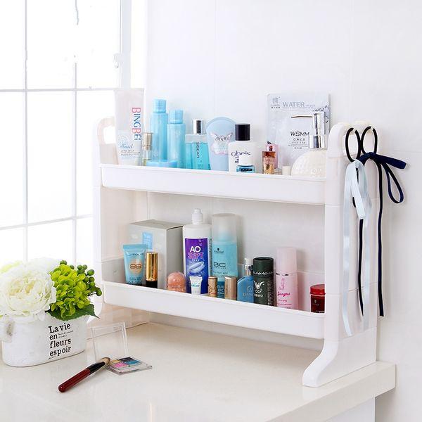 Großhandel Diy Kunststoff Double Layer Badezimmer Lagerung Rack ...