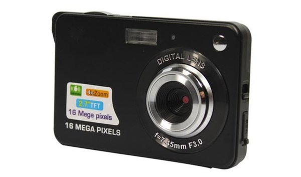 1pcs Digital camera 2.7 inch TFT LCD 16.0 mega pixels 4X digital zoom Anti-shake Video Camcorder photo camera Free send