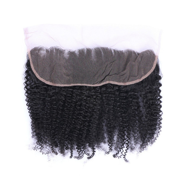 New Arrival 13x4 Ear To Ear Full Lace Frontals With Baby Hair Afro Kinky Curly Virgin Hair Lace Frontal Closure Free Shipping
