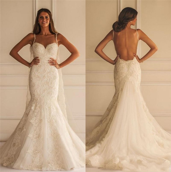 Nueva Yasmine Yeya Full Lace Mermaid Vestidos de novia Sexy Tallas grandes con cuentas árabe Medio Oriente vestidos de novia Vestido de novia por encargo