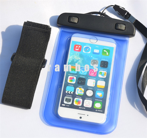 Universal Waterproof Case Cover Touch Screen Mobile Phone Bag Pouch with Neck Strap for Samsung Galaxy on5 s3/s4/s5