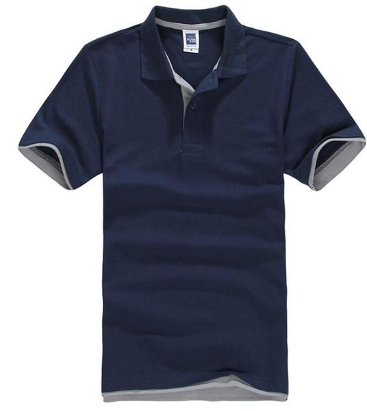 La camicia di polo di marca dei nuovi uomini di estate 2018 per gli uomini del polo degli uomini del polo del cotone degli uomini del progettista mette in mostra il golf tennis della maglietta sportiva libera il trasporto