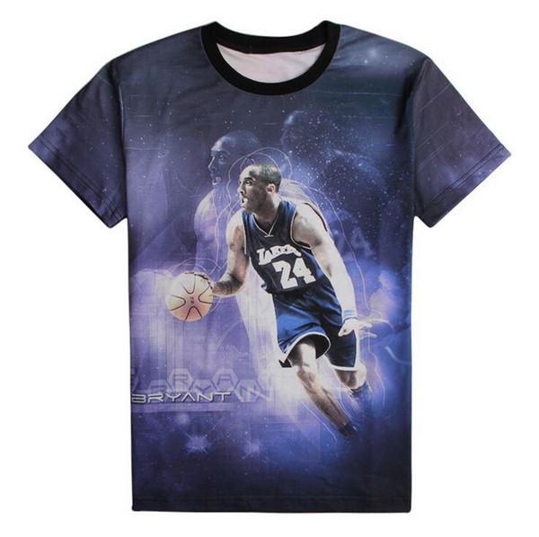 Nueva moda de los hombres de impresión de Kobe Bryant EE. UU. Estrella de baloncesto juego de deportes camiseta de los hombres camiseta divertida camiseta camisetas top