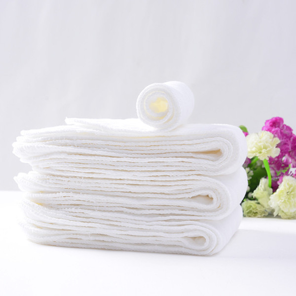 top popular 10pcs Baby 3 layers ecological cotton reusable Nappies diapers no fluorescent inserts changing pads diaper nappy Liners YTNK003 2020