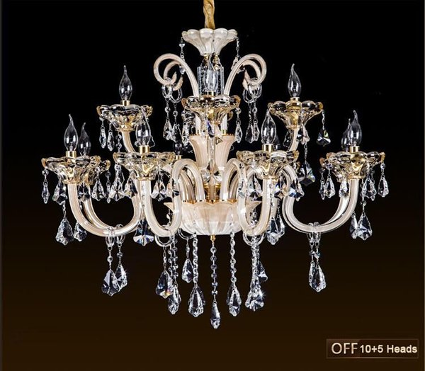 2016 Top fashion chandeliers candle crystal light for living room dining room bedroom modern indoor lighting light fixtures