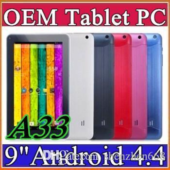 """2015 9"""" Quad Core Android 4.4 Tablet PC Actions Dual Camera 512mb 8GB Capacitive Touch Screen 1.2GHZ WIFI 9"""" Tablet PC A-9PB"""