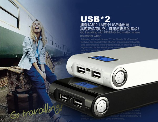 12000 mah Charger and Battery 12000mAh Dual Charging Ports portable power bank for All Cell Phone table PC MP3