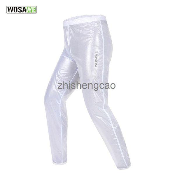 WOSAWE Erkekler Kadınlar Bisiklet Pantolon Su Geçirmez Rüzgar Geçirmez Açık Spor Mtb Yol Bisiklet Bisiklet Yokuş Aşağı Yağmur Pantolon