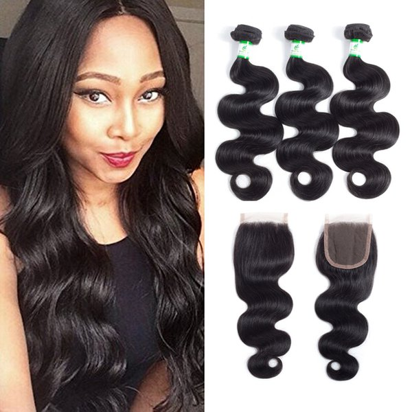 Brazilian Body Wave Virgin Hair Weave With Closure 8a 34 Bundles