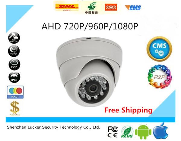 HD 720 P 960 P 1080 P Dome AHD Câmera 1MP 1.3MP 2MP CMOS Segurança Night Vision IR 10 m CCTV Câmera Para AHD DVR Frete Grátis