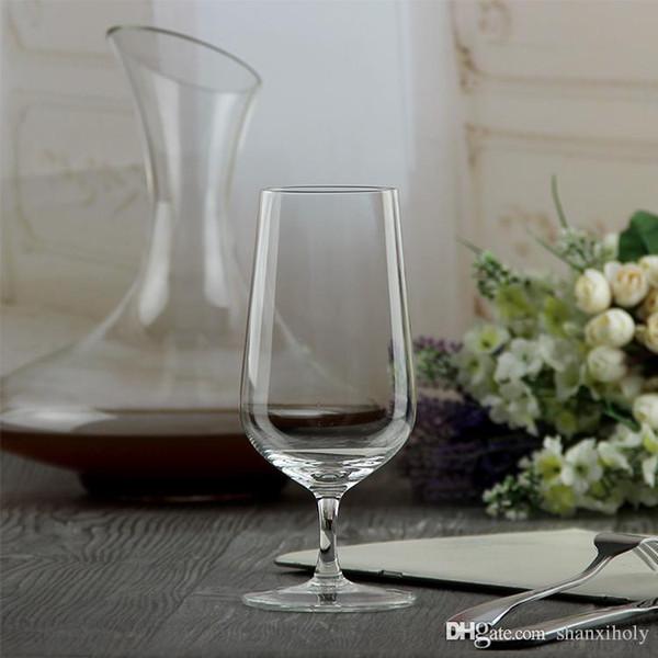 Fancy short stem wine glass lead free red wine glass