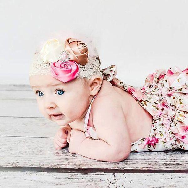 DHL-freies 100pcs / lot 2016 Babyspitze-Spielanzugbaumwollflora-Kinderoverallsommer scherzt clothing0-2Y