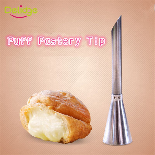 1 pc Stainless Steel Puff Nozzle Tip Long Cake Decorating Tip Sugar Craft Icing Piping Pastry Tips Puff Syringe Machine