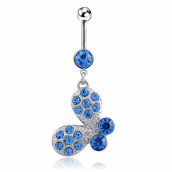 D0373-4 ( 1 color ) Nice style Navel Belly ring 10 pcs CLEAR stone drop shipping with wholesale factory price