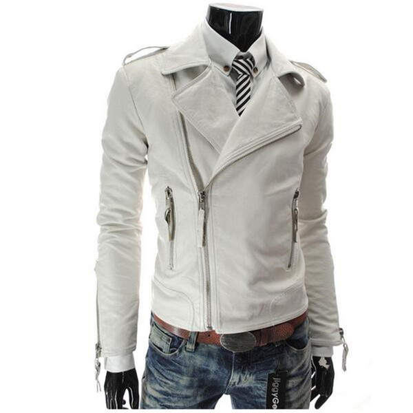 2017 New Fashion Mens Coat Design Brand Pu Leather Jacket Men Slim Fit Motocycle Biker Jacket For Autumn Winter