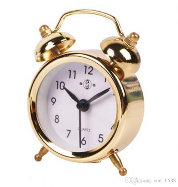 Free shipping fly together mini battery small antique mechanical clock cute children creative students watch small palm