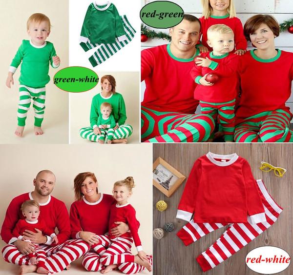 a318b926c3 ... Xmas INS Kids Adult Family Matching Christmas Deer Striped Pajamas  Sleepwear Nightwear Pyjamas bedgown sleepcoat nighty ...