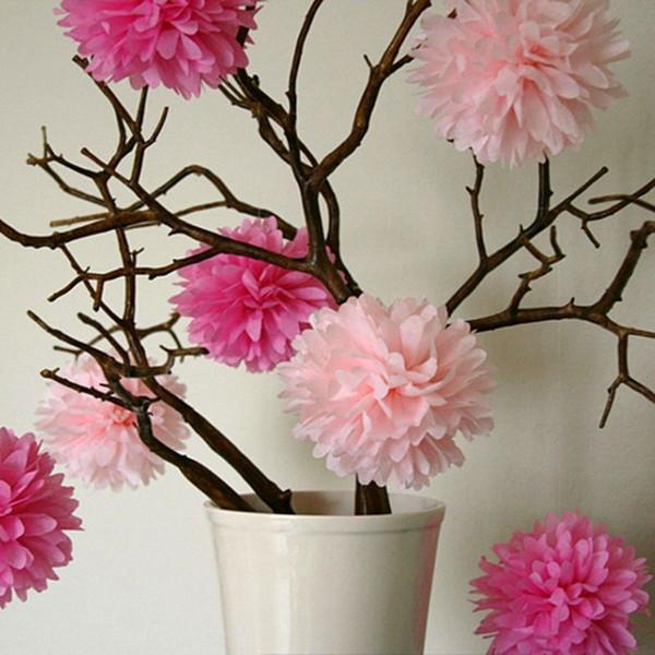 "5pcs wedding Party Supplies 12"" (30 CM) Decorative Large Tissue Paper Pom Poms Flower Balls decoratione for Wedding Party"