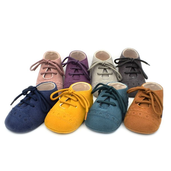 8 Colors Newborn Baby Moccasins Soft Sole Toddlers Genuine Leather Infant Running Shoes Boys Girls First Walkers Baby Kids Baby Booties