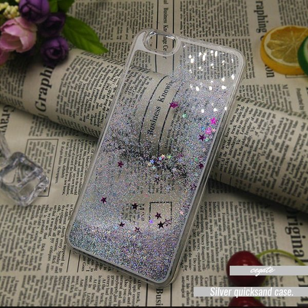 ENON Colorful Moving Shining Stars Liquid Glitter Quicksand 3D Bling Phone Case Cover For Iphone 6s Plus Samsung S7 S6 edge iphone5/5S/4S