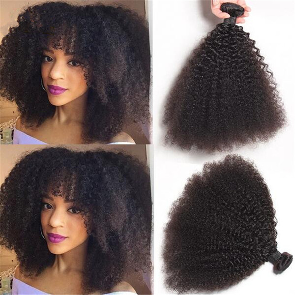 Hot Selling Brazilian 9A Afro Kinky Curly Human Hair Bundles Unprocessed Kinky Curly Hair Weaves 3 Bundles Lot For Black Woman