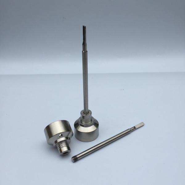 Piezas de herramientas E clavo Carb Caps Kit de vaporizador de cera con tubo de vidrio Pyrex Titanio Carb Caps Bobinas Control de temperatura Concentrado de TC Contenedor