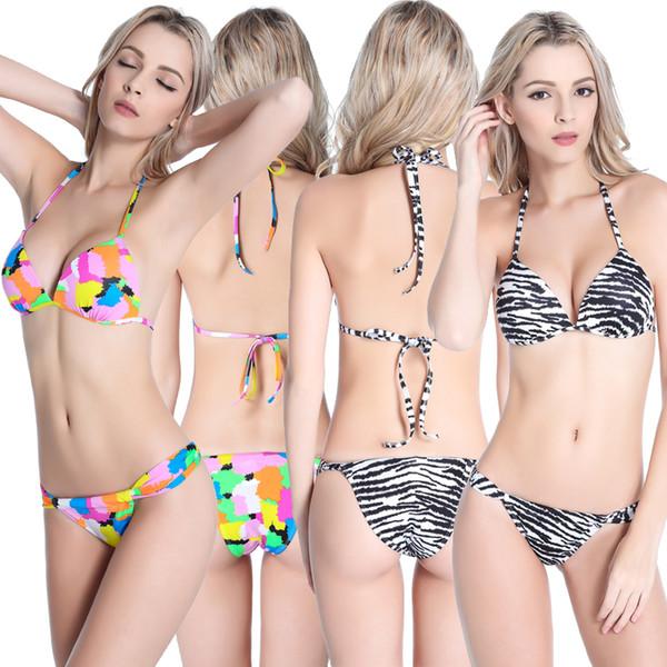 Min in womens bikinis