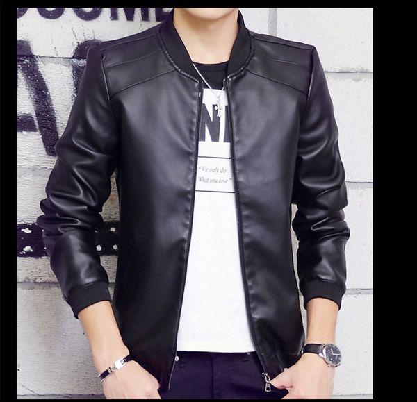 Großhandel 2016 Neue Mode Herbst Männer Lederjacke Moderne Stilvolle Hochwertige Jugendliche Dünne Lange Hülse Mantel L14 Von Redchampagne, $36.76 Auf