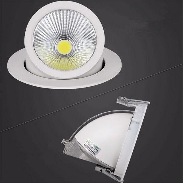 LED Downlight 15W 25W 35W Plafond Bas Dimmable Réglable Rotatif LED Tronc Lumière Gimbal Gimble Direction LED Spot Lumière