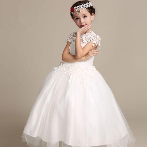 Vestiti Eleganti Da Bambina.Acquista Vestito Da Ragazza Elegante Di Fiore Abiti Lunghi Da