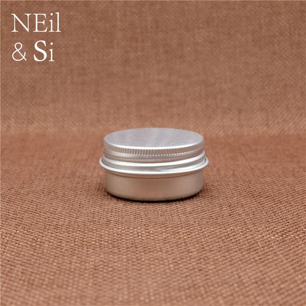 Refillable 20g Small Aluminum Jar Cosmetic Eye Batom Cream Lotion Bottle Empty Lip Oil Tins Silver Screw Cap Container