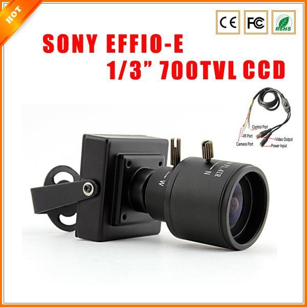 "1/3"" SONY Effio CCD Mini Camera 700TVL 811+4140 Security Surveillance Indoor CCTV Camera with OSD Menu"