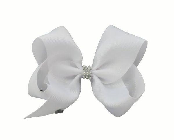 50 pcs 18CM solid colour ribbon ABC hair bows clips with big love heart diamonte Cheerleader Pageant headwear Accessories HD3491