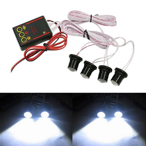 4 LED Car Truck Strobe Emergency Warning Eagle Eye Light Headlight Bianco ad alta potenza Car Light Source Strobe Light Lamps