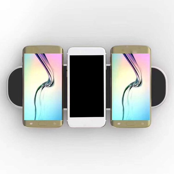 Wireless Charger 3 in 1 Wireless Charger for 3 cellphone + 2 usb Charging simultaneously with Retail Package