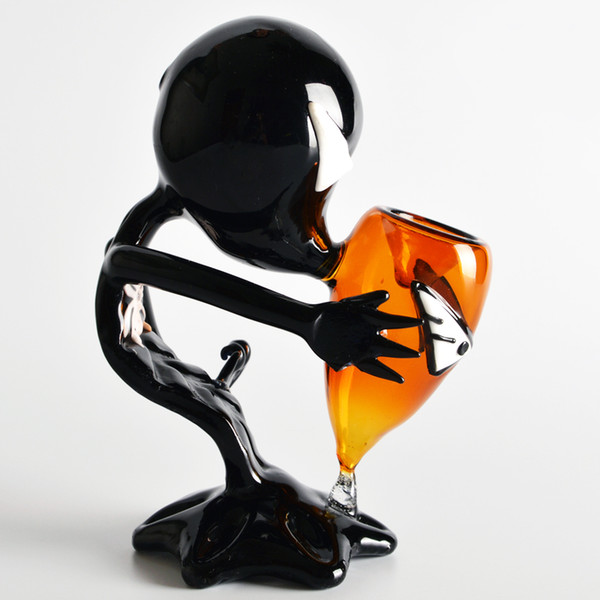 Black Alien Glass Pipes Glass Smoking Pipes High Quality Black Alien Glass Smoking Pipes Free Shipping