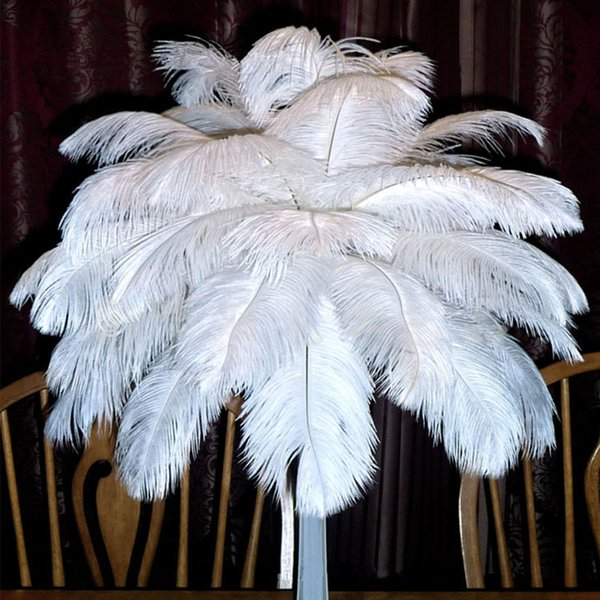 top popular Beautiful Marabou Feathers For DIY Bridal Wedding Crafts Millinery Card Decorate Wedding Ostrich Feathers Wedding Decoration Supplies 2020