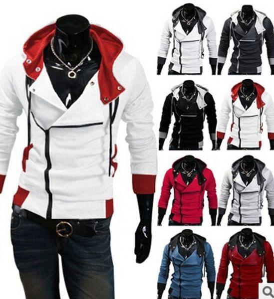 Al por mayor-2016 con estilo para hombre Assassins Creed 3 Desmond Miles traje chaqueta con capucha Cosplay Coat Jacket