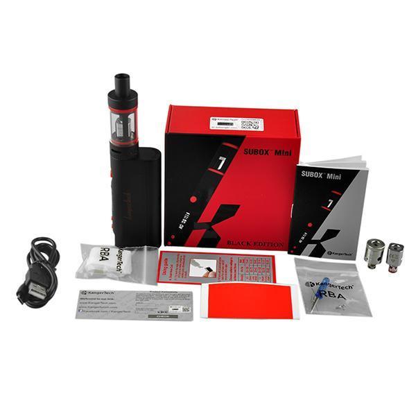 Kangertech Subox nano kiti Mini Pro TC Başlangıç Kitleri Kanger Topbox Mini Kitleri KBOX 75 W Kutusu Mod Üst Dolum Toptank Mini Atomizörler