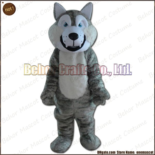 Wolf dog mascot costume EMS free shipping, cheap high quality carnival party Fancy plush walking Huskies mascot adult size.