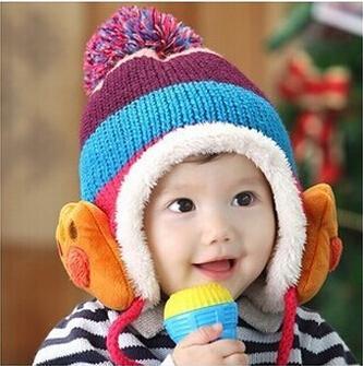 Hiver Bébé Toddler Garçons Filles Hiver Oreille Rabat Chapeau Chaud Bebe Chapeau Avec Écharpe Beanie Cap Monkey Enfants Chapeau D'hiver Enfants Chapeaux