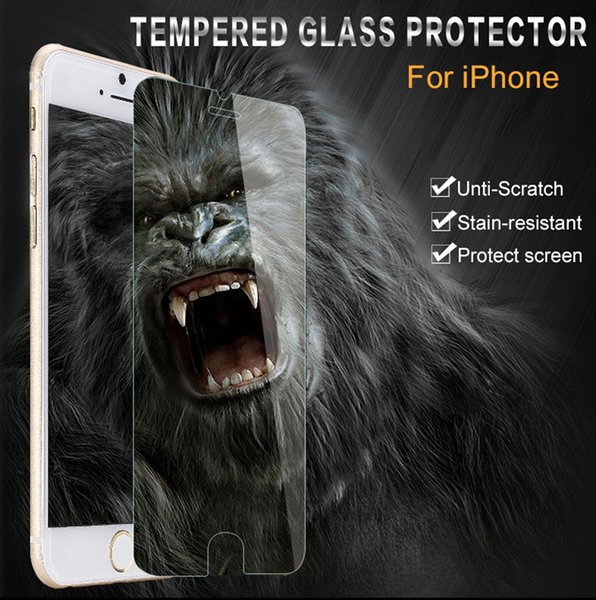 Shockproof Tempered Glass Screen Protector Cover for Apple iphone 4s 5s 5c 6 6s 7 Plus Reinforced Front Film Clear Extreme Protect