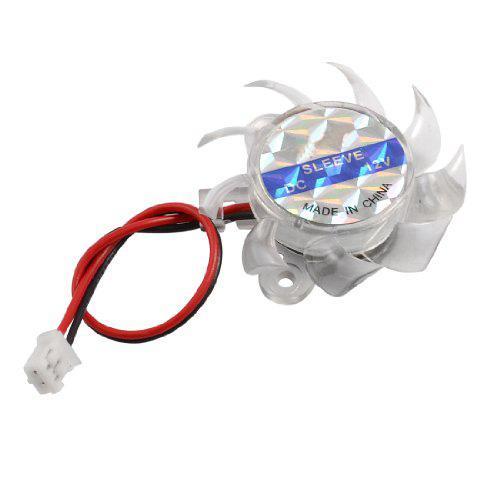 Wholesale- CAA-Hot New Clear Plastic Mini Cooling Fan Heatsink Cooler DC 12V for PC Computer GPU