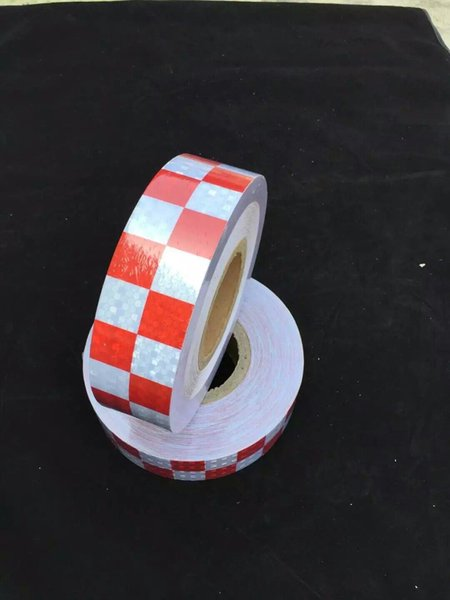 best selling 5cm Reflective Adhesive Tape Reflective sticker tape for truck car motorcycle van traffic signal reflective warning tape